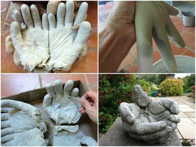 Скульптуры из бетона для сада своими руками