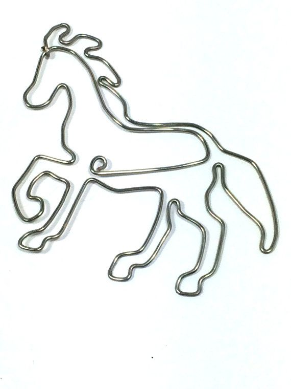 Horse Bookmark by Wirelings on Etsy