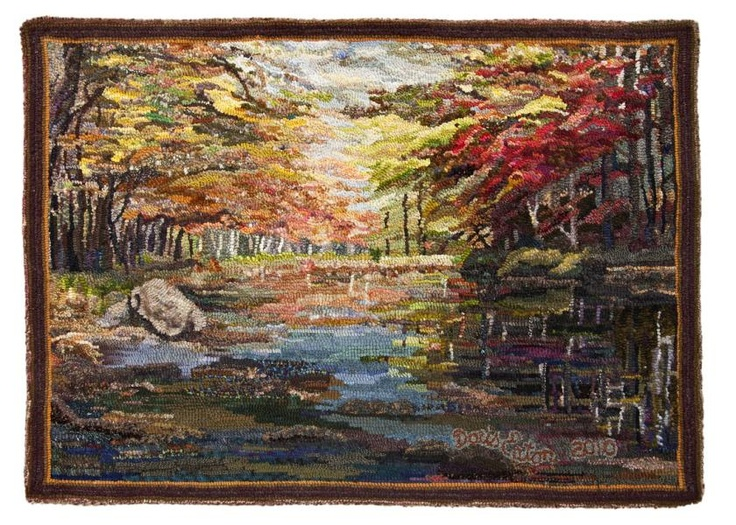 """""""Petite Riviere"""" designed and hooked by Doris Eaton"""