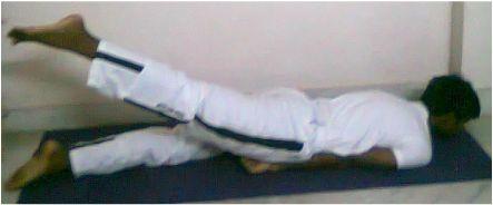 Asanas Yoga ekapada salabhasana Pose - good for Golfers Elbow. Variation - place hands flat