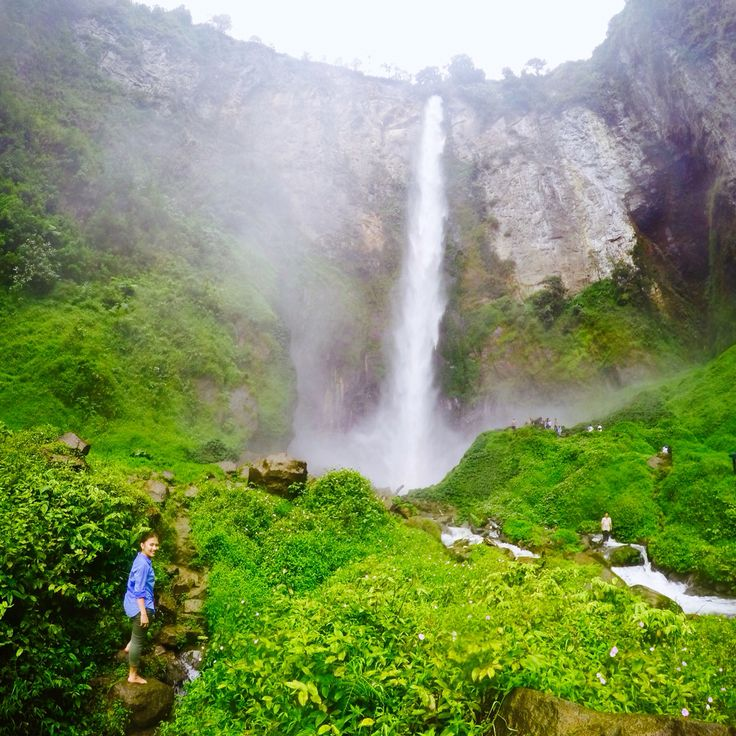 Sipiso-piso waterfall at north sumatra, Indonesia