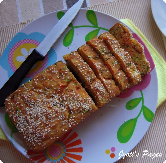Jyoti's Pages: Savoury Semolina Cake ~ A Healthy Snack!