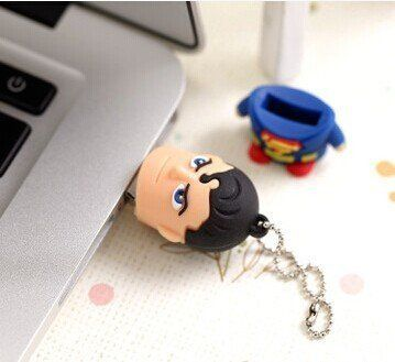 Waterproof Flash Drive USB 2.0 for Superhero Superman Batman Supe rmario Spider man Memory Stick Pen Drive U Disk4G8G16G32G