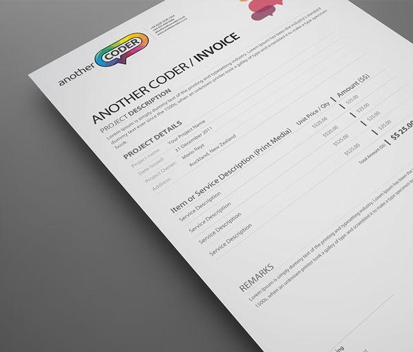 22 best Fancy business forms images on Pinterest Cards, Proposal - web design invoice