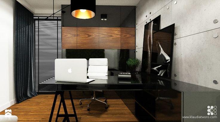 Gabinet styl Nowoczesny - zdjęcie od Klaudia Tworo Projektowanie Wnętrz - Gabinet - Styl Nowoczesny - Klaudia Tworo Projektowanie Wnętrz