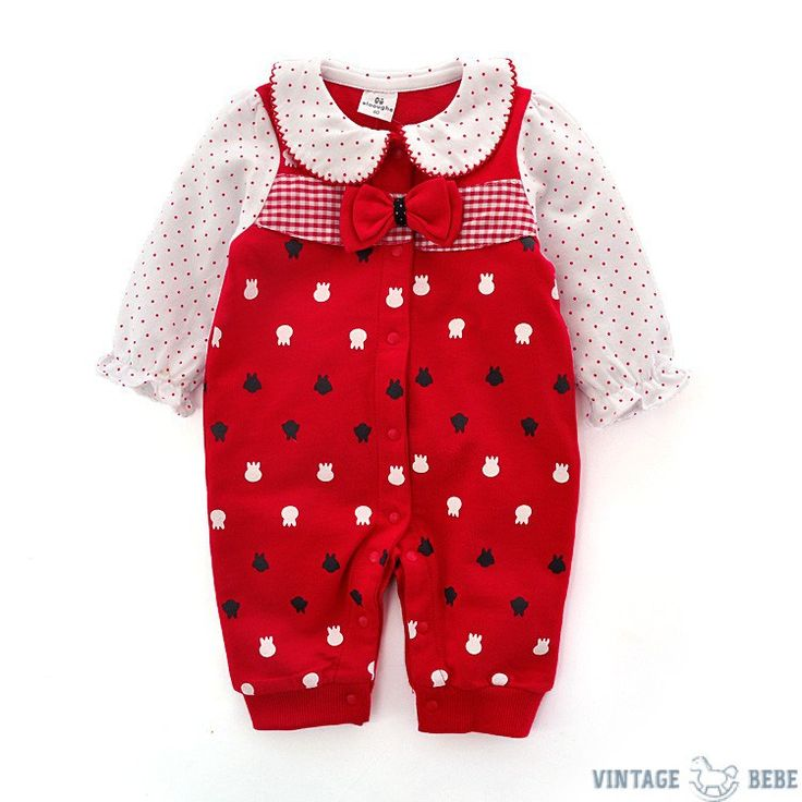 Red Bow tie Romper