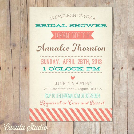 41 best wedding ideas for family images on pinterest invitations vintage bridal shower invitation baby shower by casalastudio stopboris Images