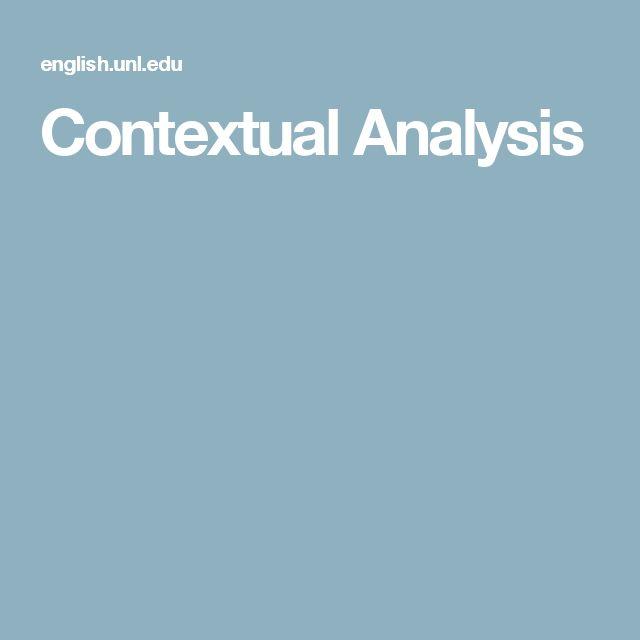 Contextual Analysi Skill School Essay