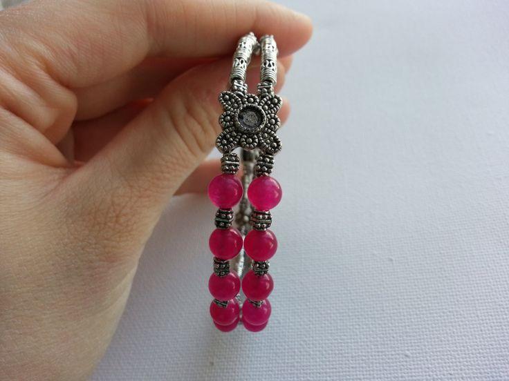 Love Bracelet  Pink Jade by lovemeknottbilton on Etsy, $10.00 #bracelet #bohemian #fashion #pink #jade #love #heartchakra