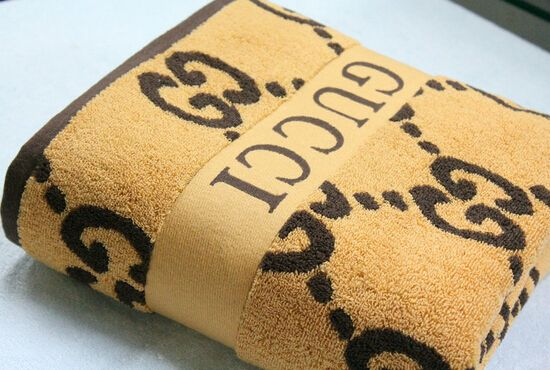 Gucci Bath Towel Yellow Gucci Bedding Luxury