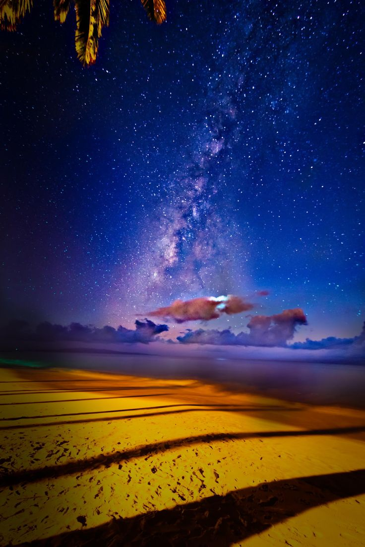 Milky way over the pacific ocean, Maui | Milky way ...