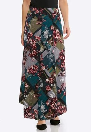 3a0c224ccc Cato Fashions Plus Size Floral Seamed Maxi Skirt  CatoFashions ...