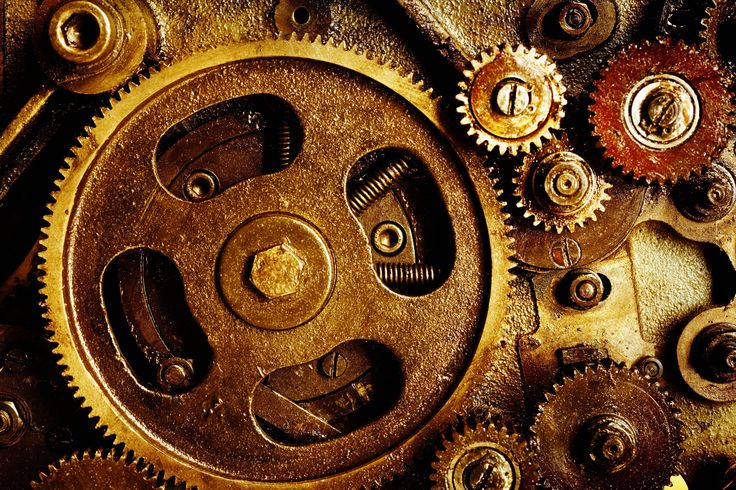 Gears mechanical technics metal steel abstract abstraction ...