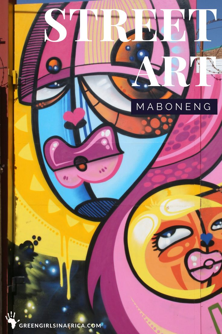 The word graffiti conjures up a rather negative image and is often associated with vandalism. To me, street art adds personality, colour, and humour to our often bland and grey urban spaces. Maboneng - Jo'burg (South Africa).