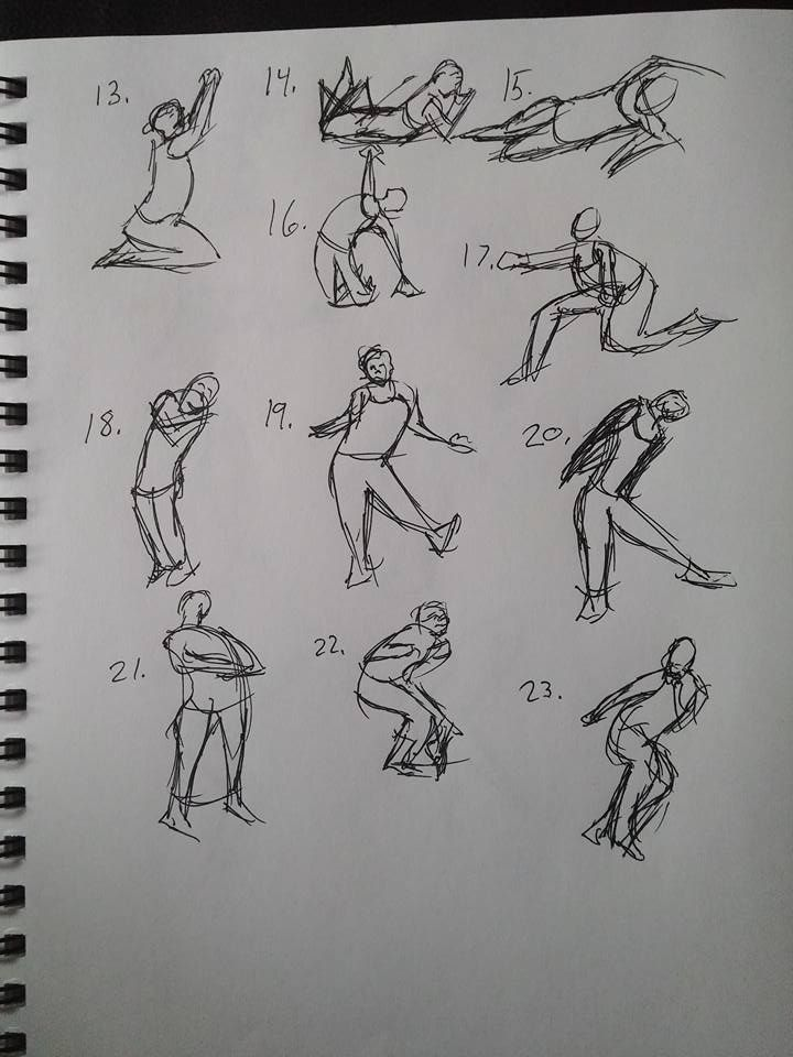 Shape gesture study page 6 of 8.