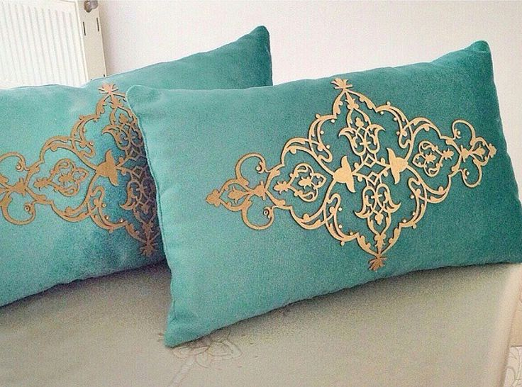 Deri kadife kırlent / leather velvet pillow