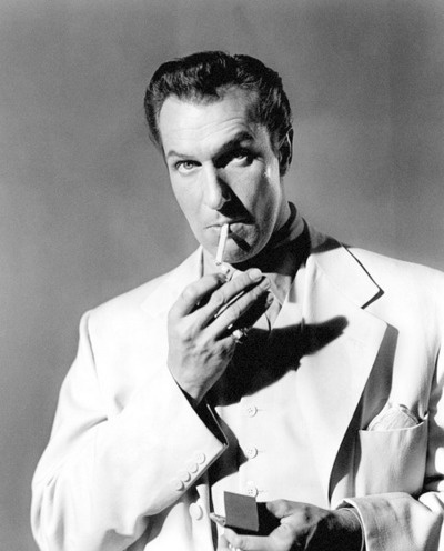 Vincent Price, c. 1948--scariest voice ever! and that laugh--so evil!!