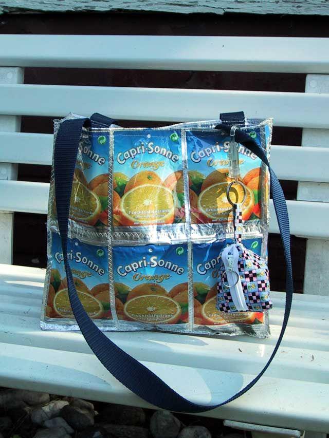 Aus dem Nähkästchen geplaudert: Anleitung Capri Sonnen Tasche