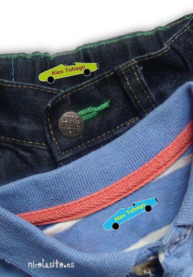 Foto detalle #etiquetas para marcar #ropa con forma de #coches #niños #kids #stickers
