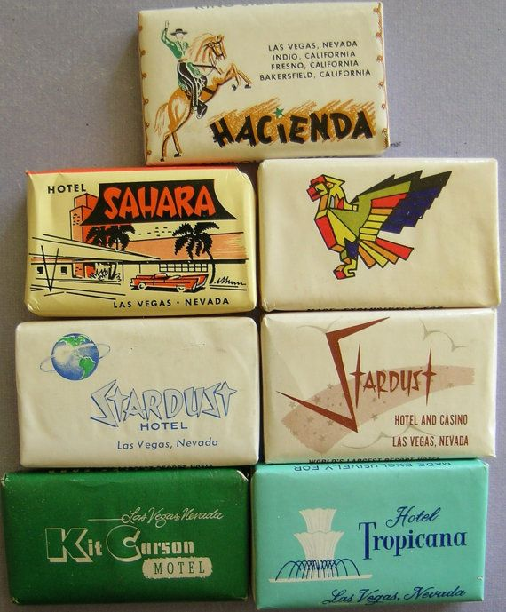 Vintage Las Vegas Casinos Travel Soap  Sahara, Stardust, Hacienda