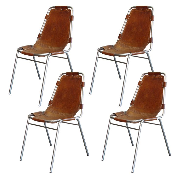 Set Of 4 Charlotte Perriand Les Arc Chairs Set Of