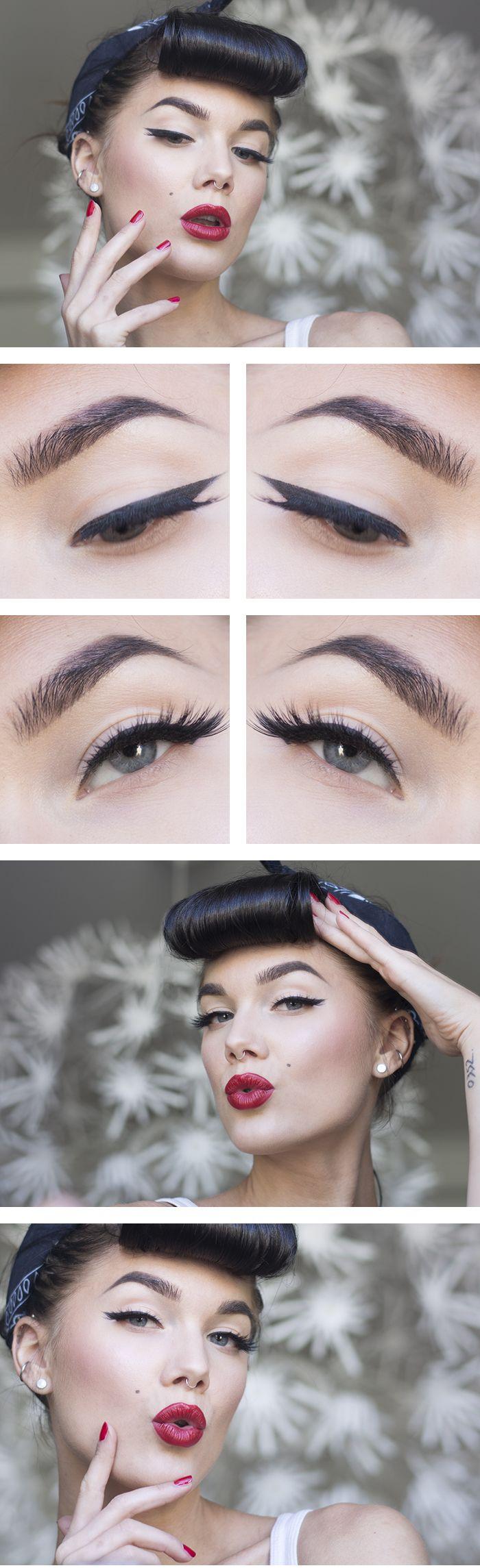 Pinup Makeup #vintage #50s #rockabilly