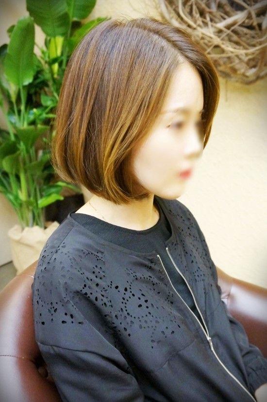 [요즘 머리스타일] 앞머리 없는 단발머리 스타일 :) : 네이버 블로그
