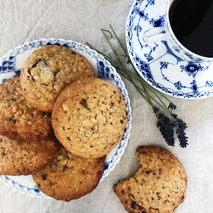 Peanutbutter cookies med chokolade