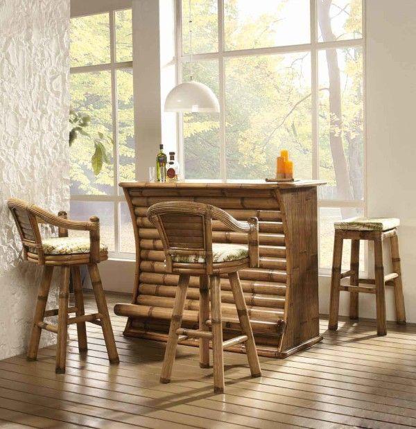 mesas de bambú