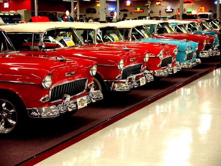 Collection of Chevrolet Bel Airs at Muscle Car City car museum, Florida. Dec 2010