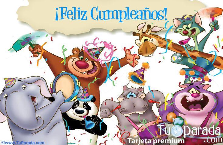 tarjeta de cumpleaños animada tarjetas Pinterest Dia de and Cards
