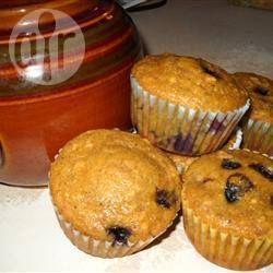 Muffins bleuets et citrouille