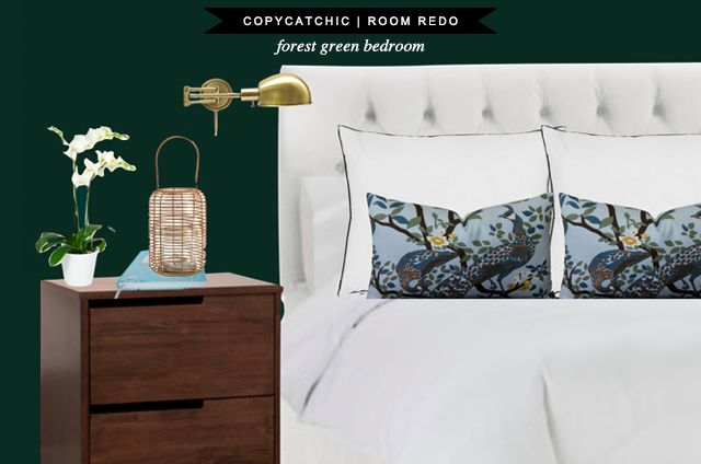 Copy Cat Chic: Copy Cat Chic Room Redo | Forest Green Bedroom