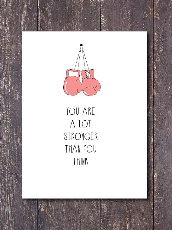 Cute room decor. Motivational quote. Great gift idea. Only $5. Pink boxing gloves. Keep fighting.