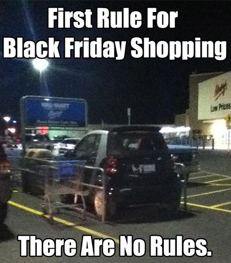 """""""First rule for Black Friday shopping, there are no rules."""" // #Fashion"""