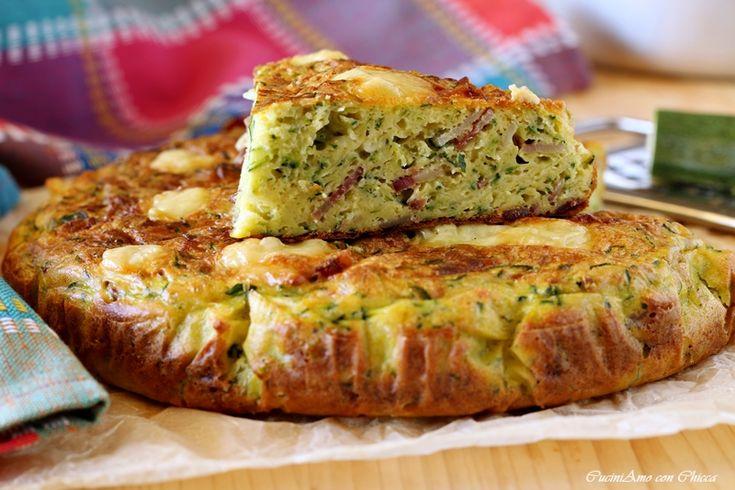 Torta di zucchine e bacon