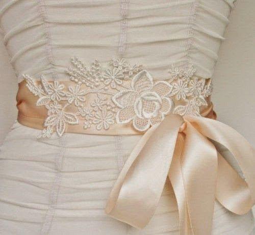 Lace Bridal Sash By Fancie Strands