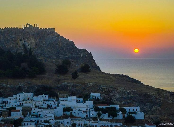 Lindos #Sunrise, Cool #September at #Rhodes #Rodos #Greece!!!