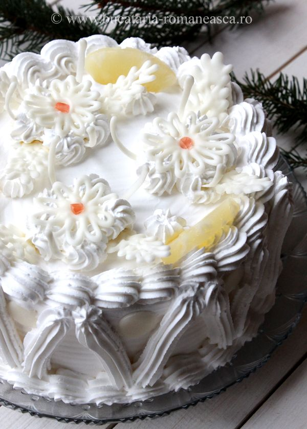 Tort diplomat cu ananas si ciocolata