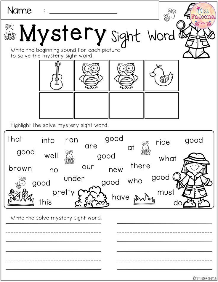 Free Mystery Sight Word Practice Sight word practice