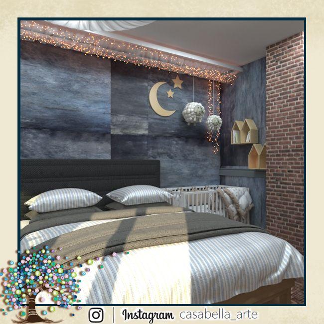Dormitorio. Cama Ikea Oppland. Спальня для троих, детская кроватка для годовалой девочки.