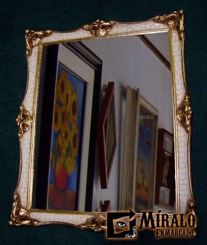 Miralo enmarcado taller de marcos cuadros y espejos for Espejos con marco plateado