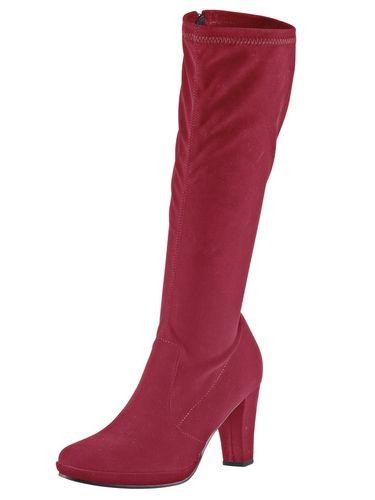 #ANDREA #CONTI #Damen #Stretch-Stiefel #rot Stretch-Material. Lederinnensohle, Thermo-Gummilaufsohle. Schaft-H/W ca. 39/36 cm. Plateau-H ca. 10 mm, Absatz-H ca. 75 mm (bei Gr. 37).