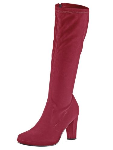 #ANDREA #CONTI #Damen #Stretch-Stiefel #rot Stretch-Material. Lederinnensohle, Thermo-Gummilaufsohle. Schaft-H/W ca. 39/36 cm. Plateau-H ca. 10 mm, Absatz-H ca. 75 mm (bei Gr. 37).