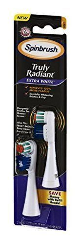 ARM  HAMMER Spinbrush Truly Radiant Extra White Replacement Brush Heads Soft  2 ct * Learn more by visiting the image link.