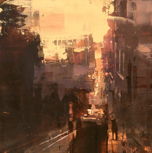 Oil-Based Cityscapes Set at Dawn and Dusk by Jeremy Mann