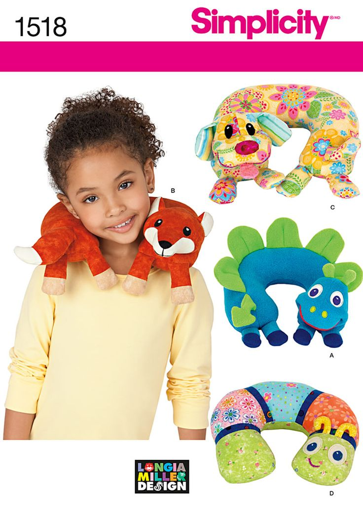 For the plane? Simplicity Creative Group - Child's Animal Neck Pillows