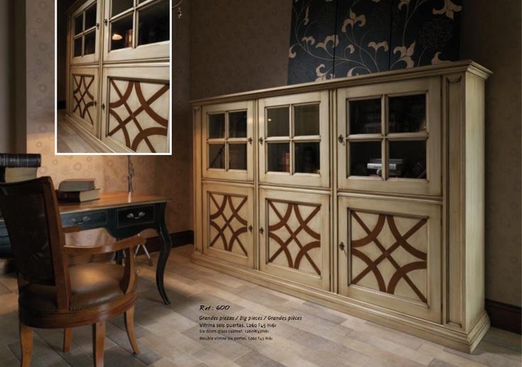 Испанская мебель ручной работы > Дизайнерская мебель > Коллекция Классика > Лола Гламур (Испания) Стенка в гостиную (9 дверей) LG900