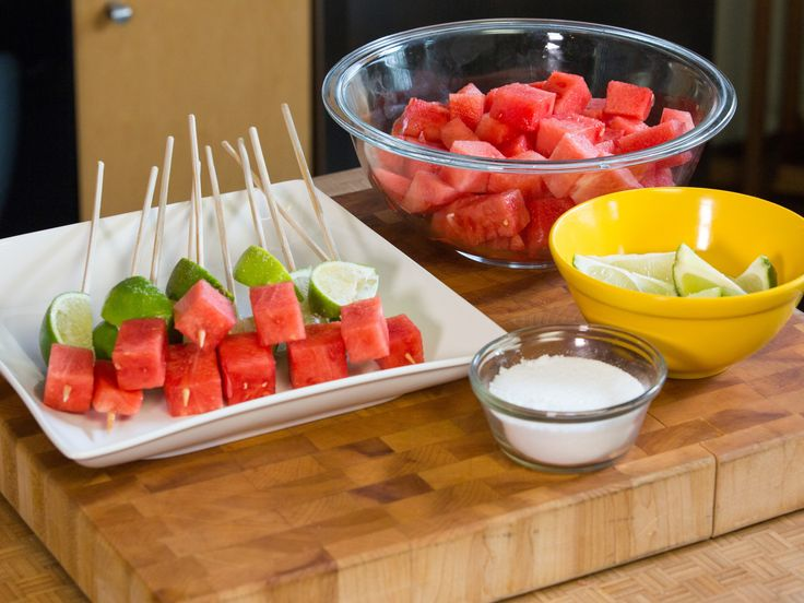 I don't drink te-kill-ya, but I would try it with Vodka. Watermelon Tequila Shots Recipe : Food Network - FoodNetwork.com