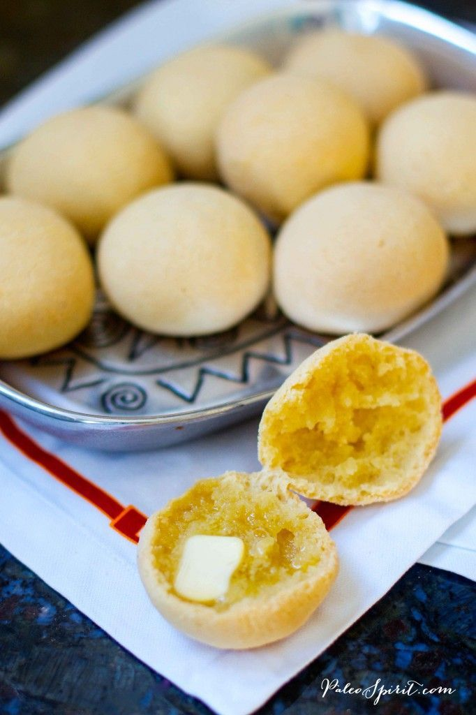 Paleo Dinner Rolls - Easy & Delicious! 1 cup tapioca flour (starch) 1/4 – 1/3 cup coconut flour 1 teaspoon sea salt 1/2 cup warm water 1/2 cup olive oil 1 large egg, whisked OPTIONAL: 1/2 tsp garlic powder or an combonation of dry Italian seasoning like oregano